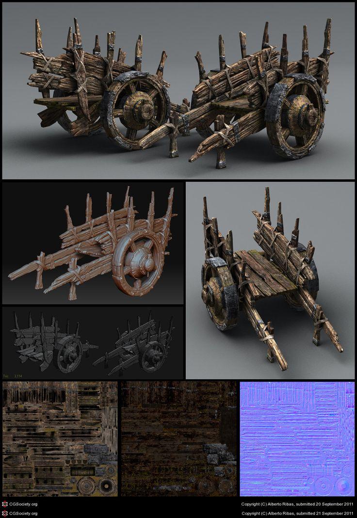 Medieval Cart by Alberto Ribas | 3D | CGSociety