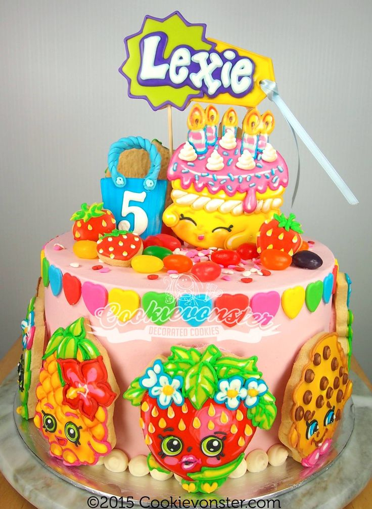 shopkins cookie cake