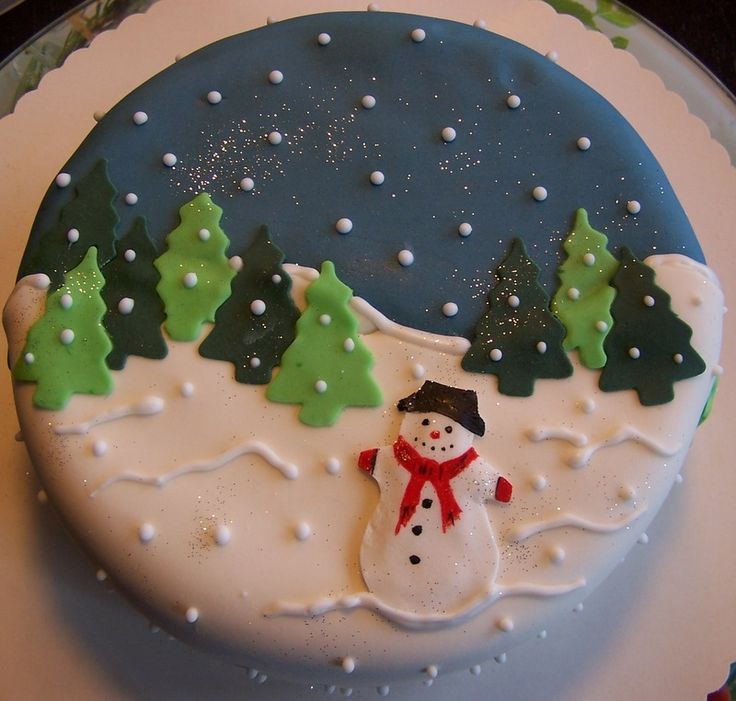 fondant torte mit schneemann fondant cake with snowman. Black Bedroom Furniture Sets. Home Design Ideas