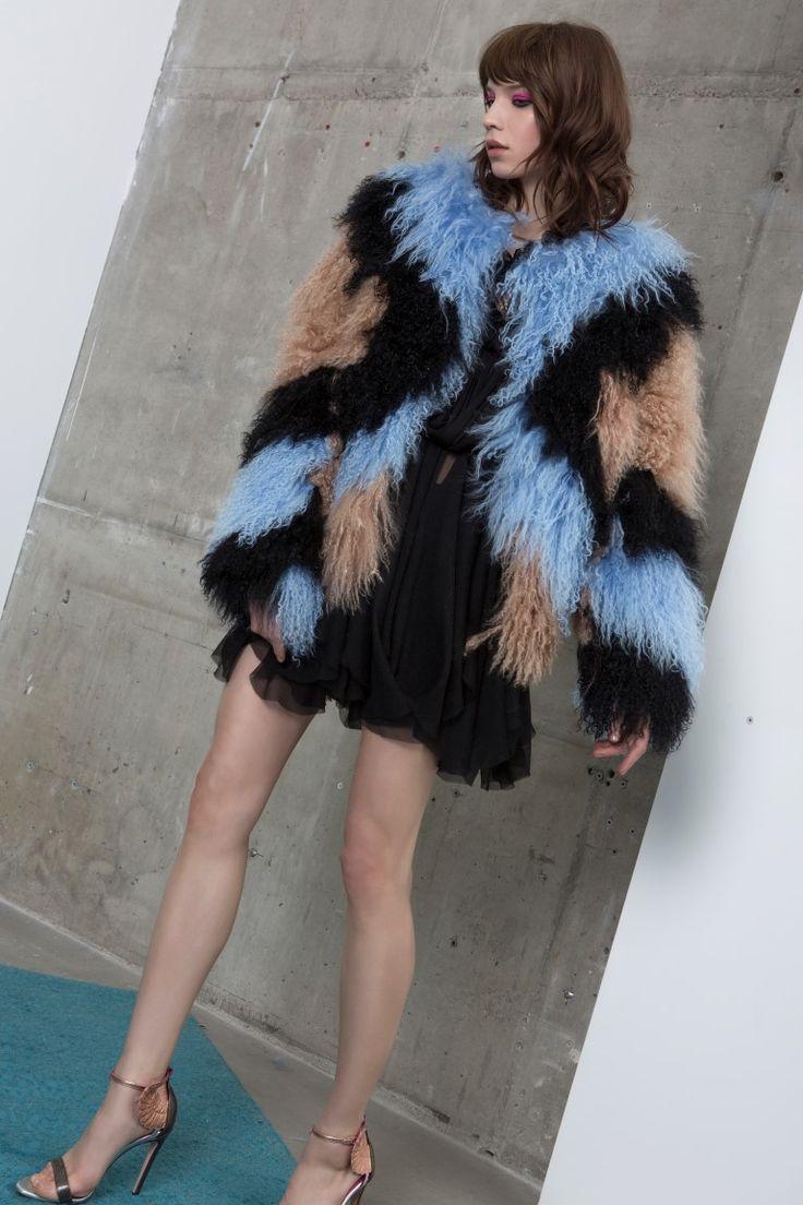 KAMARIA fur coat + KALIL dress