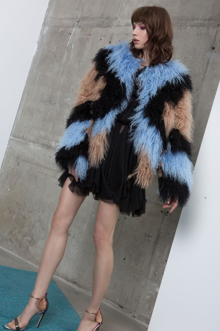 KAMARIA fur coat + KALIL dress