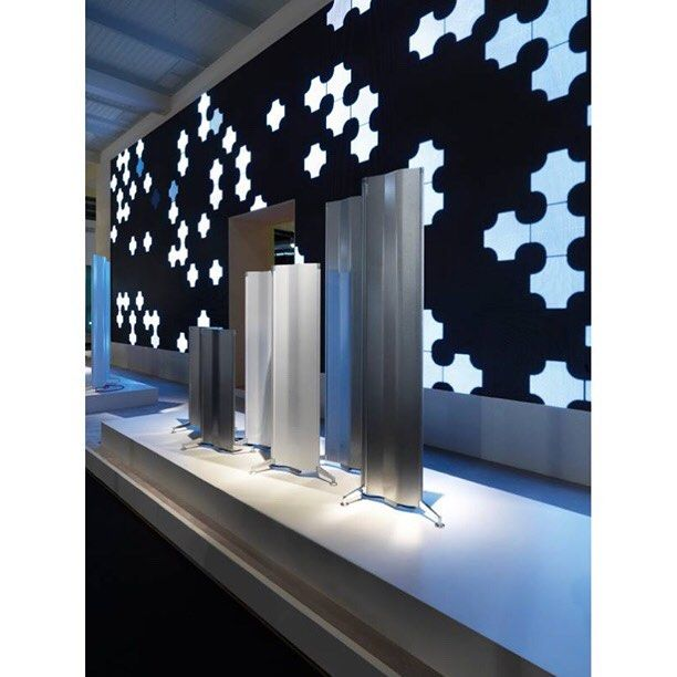 Another photo of Tubes stand taken at the Salone del Bagno (12-17 April) with Origami designed by Alberto Meda in front of the ledwall.  #origamimeda #Tubesradiatori  Photo credit: Max Zambelli  #isaloni2016 #saloneinternazionaledelbagno #salonedelmobile #design #milandesignweek #radiator #radiators by tubesradiatori