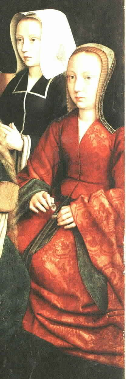 Gerard David, 1509  Detail from Virgin among Virgins