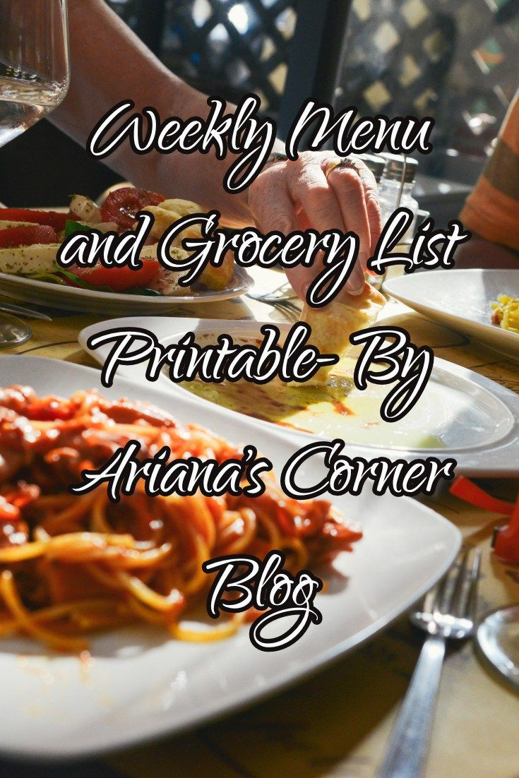 Weekly Menu and Grocery list printable for those busy ladies and gents out there that need some extra organization! This list is simple and designed to help you plan out your week of meals, grocery…