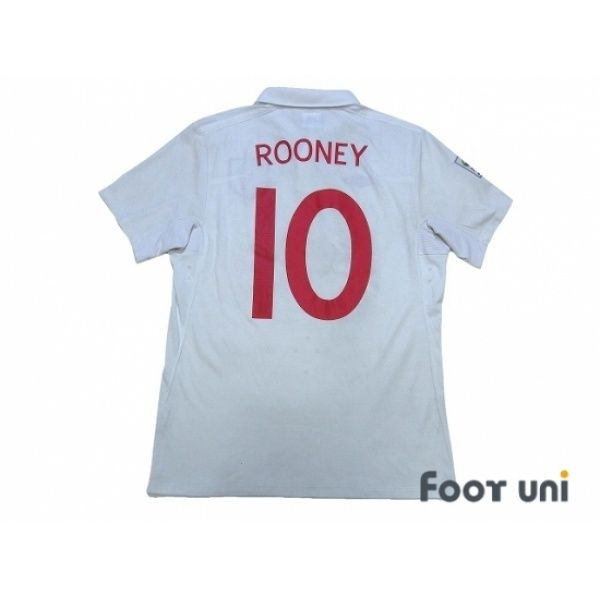 England 2010 Home Shirt 10 Rooney South Africa Fifa World Cup 2010 Patch Badge England Rooney Retro Football Shirts England Football Shirt Football Shirts