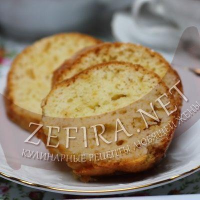 Сметанный кекс с растительным маслом-домашние рецепты с фото