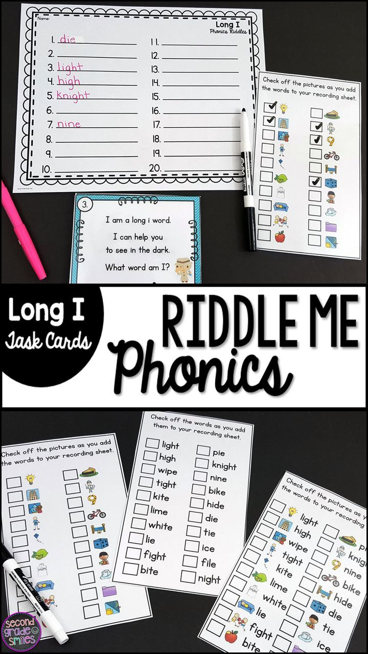 This riddle me phonics task card activity was created to reinforce long i phonics and spelling patterns while also building students' inferencing skills. Includes long vowel words spelled cvce, igh and ie and options for differentiation!