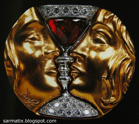 Tristan and Isolde - jewelry by Salvador Dali, Figueres, Spain.