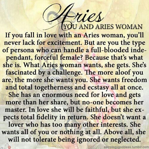 it's so weird how the zodiac stuff is right on. im an aries woman and this is exactly me to a tee