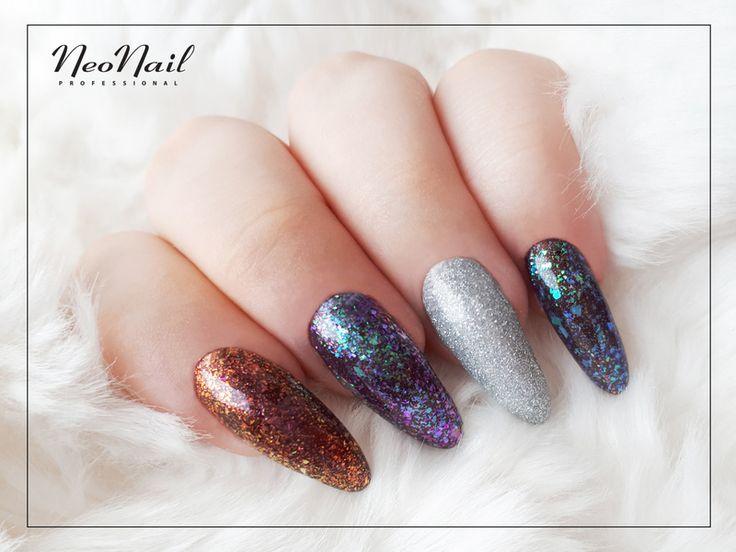 Błyszczące paznokcie hybrydowe / Nailart / Star Glow / NeoNail