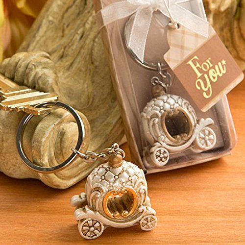 Vintage Fairy Tale Pumpkin Coach key chain favours weddin…