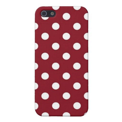 Red & White Polka Dot iPhone 5/5s Matte Phone Case iPhone 5/5S Covers