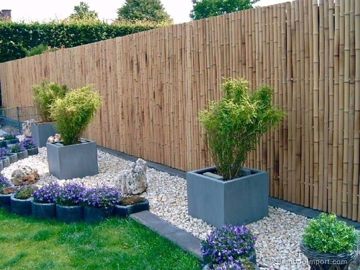 The 25 best Bamboo fencing ideas on Pinterest Terrace Tuin and