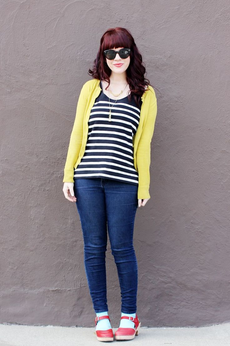 I need more colorful cardigans like this - never mind that it's blazing hot outside. :)