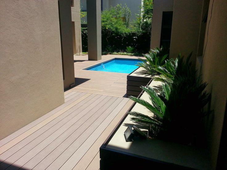 Yard and pool Eva-tech #deck in Rusteak. http://www.eva-tech.com/en/