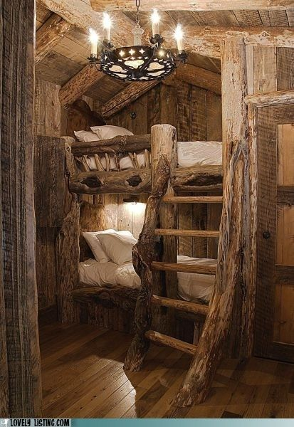 I also love cabins... So rustic and cute!