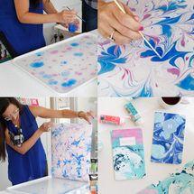 Tutorial: Como hacer papel marmoleado