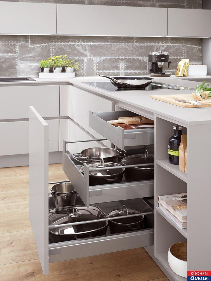 32 best Moderne Küchen images on Pinterest - küchenzeile hochglanz weiß