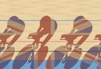 Olympic Cycle Team by Andy Bridge - print