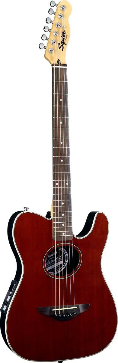 Squier by Fender Telecoustic Walnut Satin