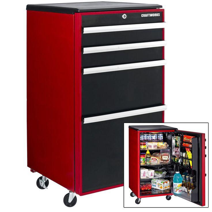 Man Cave Refrigerator Ideas : Mini fridge that looks like a snap on toolbox