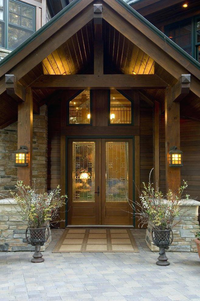 Rustic Front Porch Capital Door Exterior Entrance Design Ideas Entry