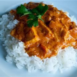 Slow cooker butter chicken @ allrecipes.co.uk can use breasts instead of thighs. Delicious. 6 breasts made 2 nights' worth.
