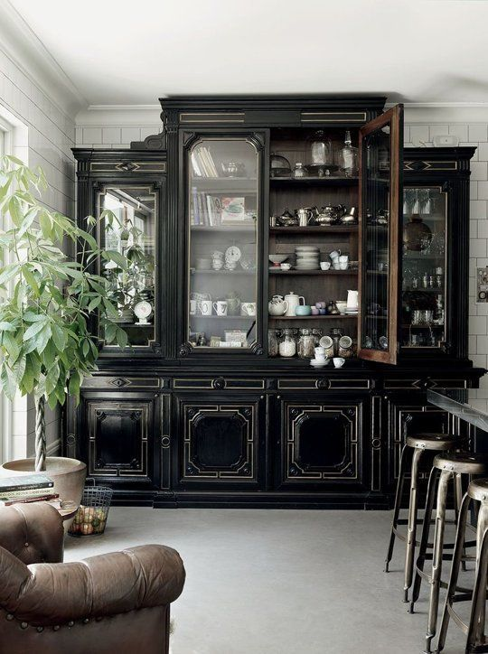 I love a china cabinet in the kitchen. Ahead of the Curve: 5 Beautiful New Trends for the Kitchen