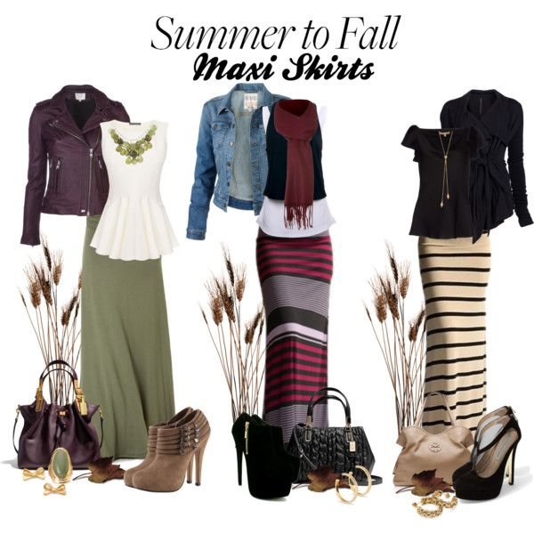"""Summer to Fall: Maxi Skirts"" by deborah-simmons on Polyvore http://deborah-simmons.polyvore.com/summer_to_fall_maxi_skirts/set?.svc=copypaste&embedder=8880523&id=101048099"