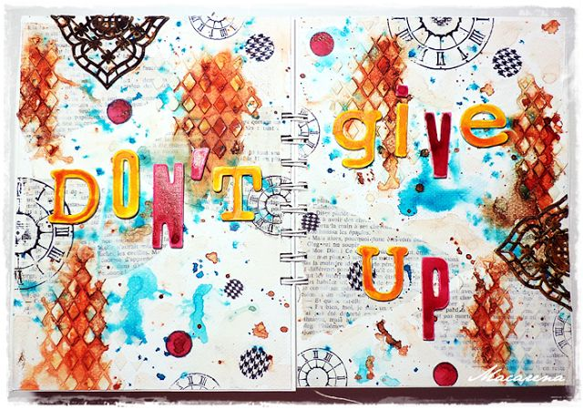 Don't Give Up - Art Journal