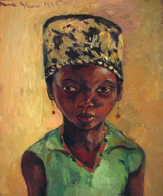 Portrait of a Young Girl (1939) | by Irma Stern (1894-1966). Irma Stern was born in 1894 in Schweizer-Reneke in South Africa to German-Jewish parents. At the time of the Boer War, her parents returned to Germany, where they lived until 1920. In Germany Irma studied art. In 1920 she returned to her homeland and held her first exhibition in Cape Town in 1922.