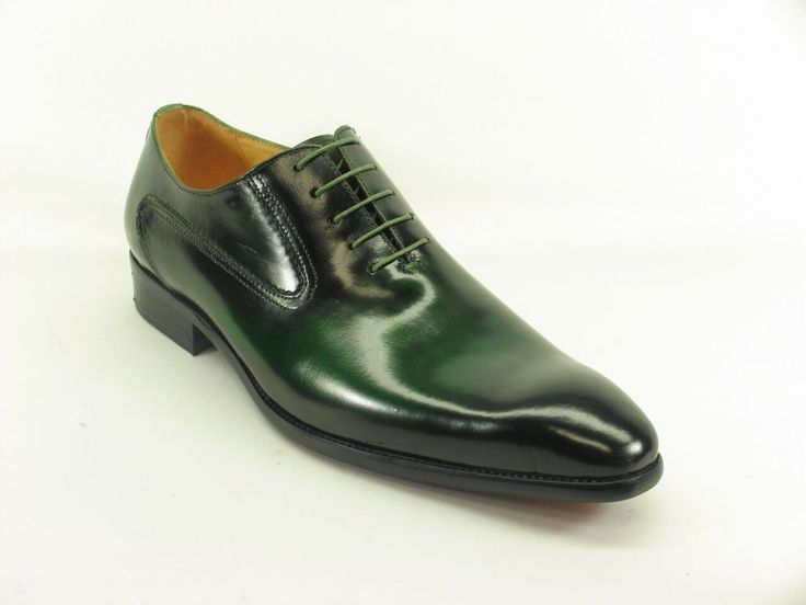 Men's Fashion Shoes by Carrucci - Polished Olive Leather