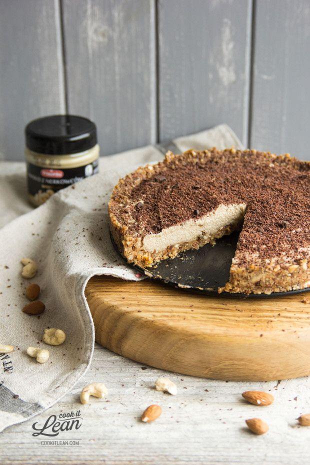 Orzechowa tarta bez pieczenia (bezglutenowa, wegańska) - Cook it Lean - sprawdzone paleo przepisy