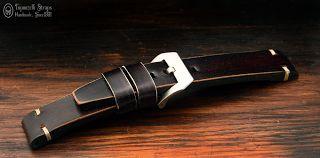 Curele de ceas, din piele, handmade. Topouzelli Straps.: Curea de ceas, handmade, T 858
