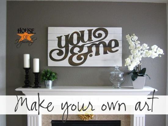 DIY You & Me custom artwork DIY Wall Art DIY Crafts DIY Home