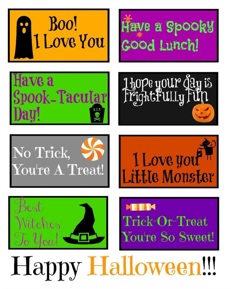 Surprise your little ones with these Free Printable Halloween Lunch Box Notes.