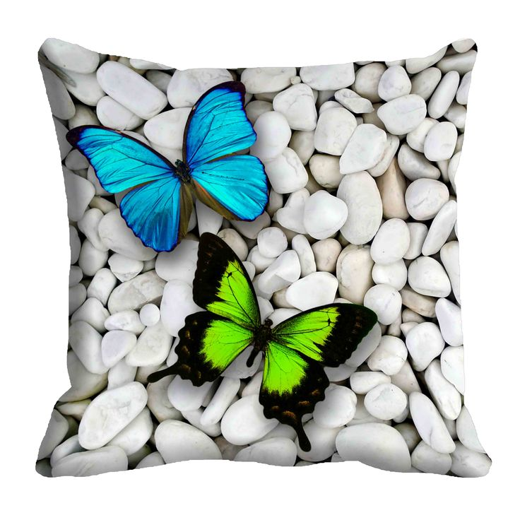 Colorful Butterfly Cushion Cover (16x16) #cushions #cushioncovers #pinit #pinterset #shazliving #interior #homedecor Shop at: https://www.shazliving.com/