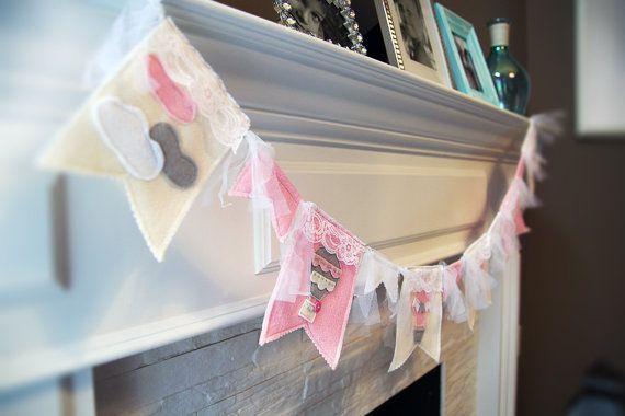 Hot Air Balloon Birthday Banner Baby Girl Decor by HouseOfLaylayt