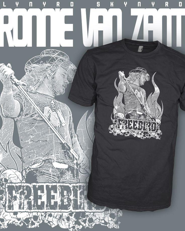Lynyrd Skynyrd Band - Ronnie Van Zant - Freebird Rock T-Shirt