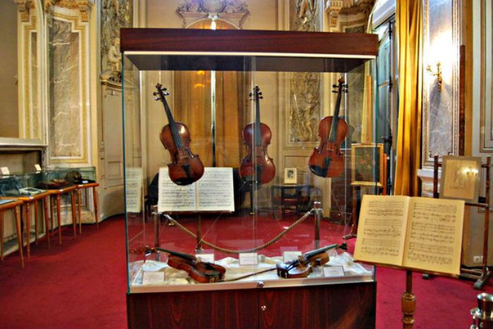 George Enescu violin at the festival.  George Enescu in Bucharest