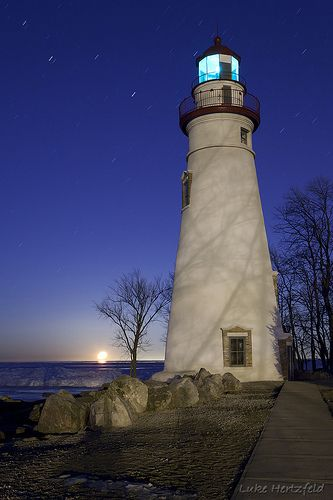 Marblehead Light. Ohio; oldest lighthouse in continuous operation on the Great Lakes, operating since 1822.