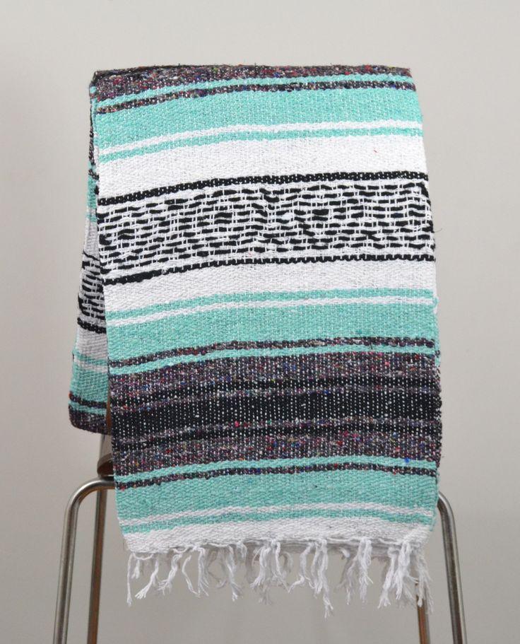 Mexican Blanket Premium Aquamarine Mint Amp Grey Yoga
