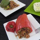 Piperies Yemistes me Pligouri: Stuffed Peppers with Bulgur & Basil