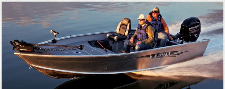 Lund Boats | 1750 Outfitter Tiller Aluminum Fishing Boats | Professional Grade Walleye Boat, Muskie Boat, Musky Boat, Bass Boat | 17' boat |...