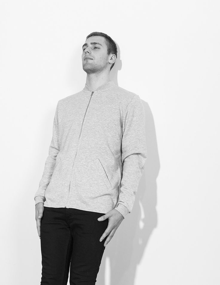 RVLT - men's fashion. A poly/cotton zip sweat made from a smooth surface fabric.