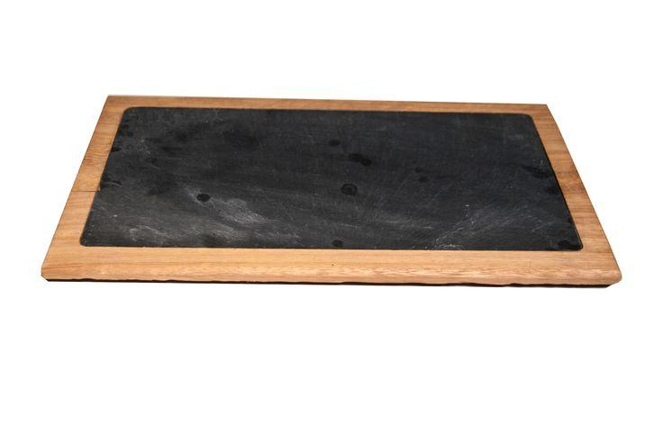 Tabla de pizarra natural, para plato de 30X15 cm   #slate #boards #slate #ardoise #ardosia #decoração #decoracion #decoration #décoration #pizarra #cocina #cuisine #cozinha www.platosypizarras.com