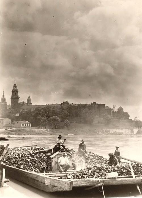 Krakow. Wisła. Wawel. Polska. Poland. 1928. Swiatowid.