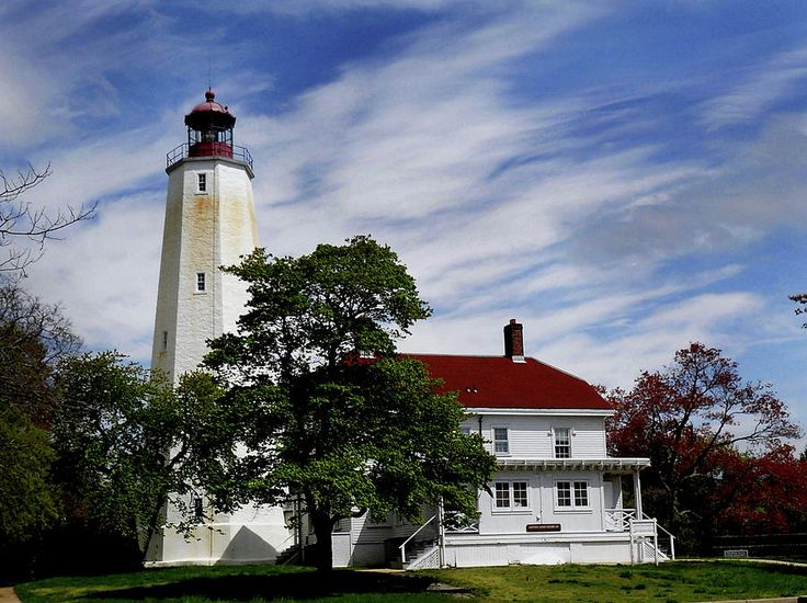 Visit the lighthouses of New Jeresy.  Pictured here, Sandy Hook Lighthouse.