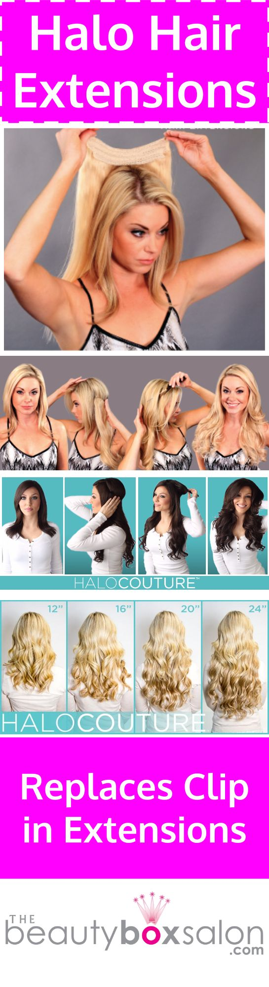 Halo Hair Extensions are way better than clip in hair extensions. Find out why. Salons that sell halo hair extensions Dallas. #hairhairextensions #thebeautyboxsalon #dallashairsalons