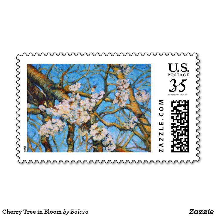 Cherry Tree in Bloom Stamp